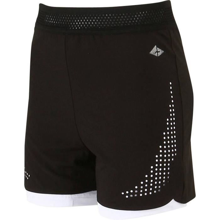 ATHLI-TECH Short de tennis Emira - Enfant mixte - Noir