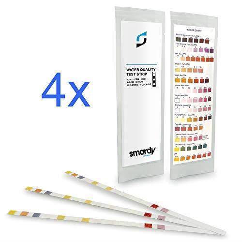 SMARDY Kit - 12x 13en1 Bandelettes de Test pour Eau Potable, Aquarium, contrôle de la qualité d'eau Easy Test