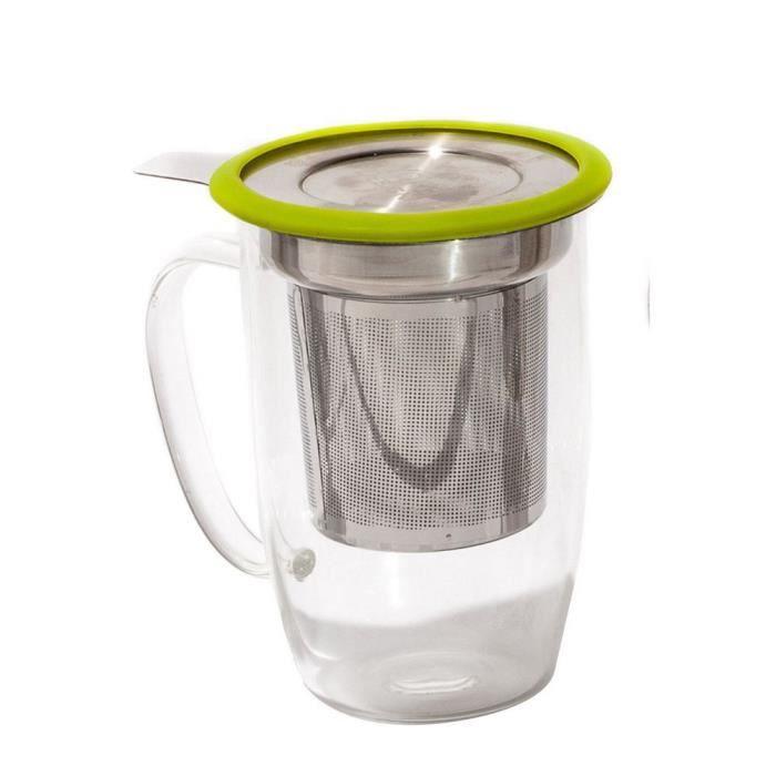 Travel Mug Mug a the Tastea Yoko Design Vert