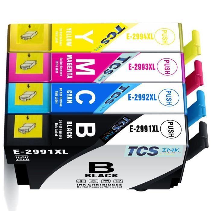Tcs Ink : Pack De 4 Cartouches Epson T29xl Noire et Couleur fraise Compatible