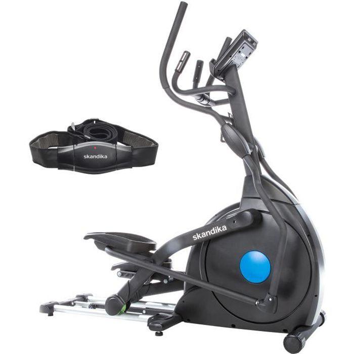 skandika CardioCross Carbon Champ - Vélo elliptique - Bluetooth - 19 Prog - Max. 150 kg - 32 niveaux de résistance