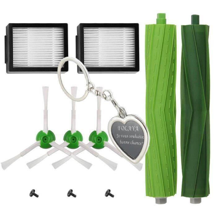 Kit Pièces accessoires pour iRobot Roomba serie i7 i7+-i7 Plus E5 E6 E7 Filtres et Brosses pour Aspirateur Robot de ABC life, 10in1