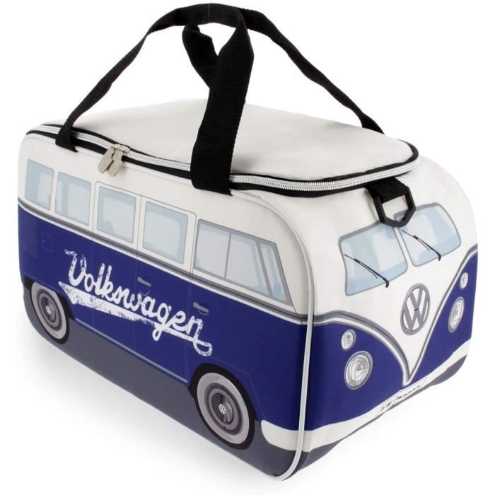 BRISA VW Collection - Volkswagen Combi Bus T1 Camper Van Sac Isotherme 25 L (Blanc-Bleu)27