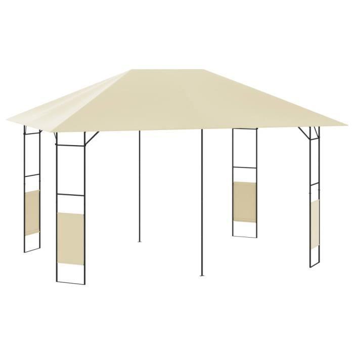 Tonnelle de Jardin - Barnum Belvédère 4x3 m Crème 160 g-m²