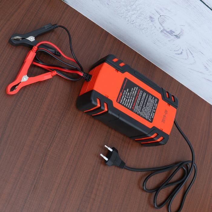 Chargeur de Batterie Voitures avec Protections Multiples Type de réparation pour Batterie de Voiture Moto(rouge)-ekd