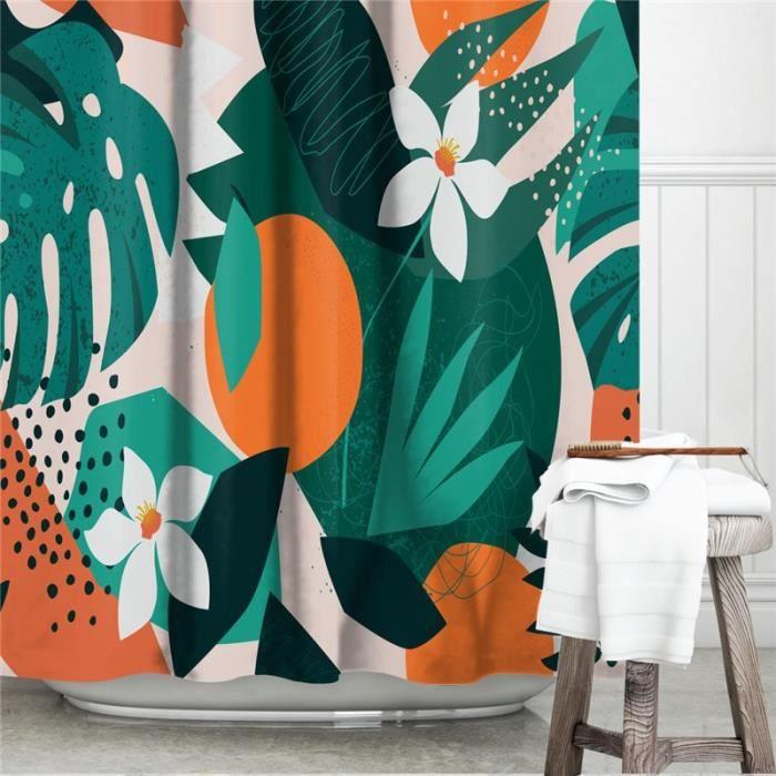 Accessoires salle de bain,Rideau de douche moderne au Design abstrait, écran occultant de baignoire - Type YL619 - 90 * 180 cm