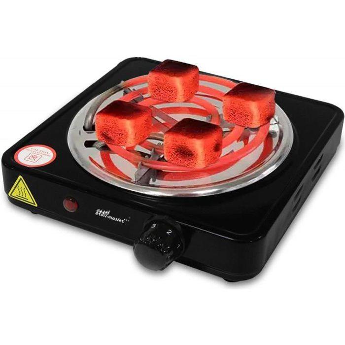 broil-master® Allume Charbon - Électrique, 1000 W, Thermostat 5 Positions - Plaque Chauffante Chicha, Narguilé, Charbon Naturel