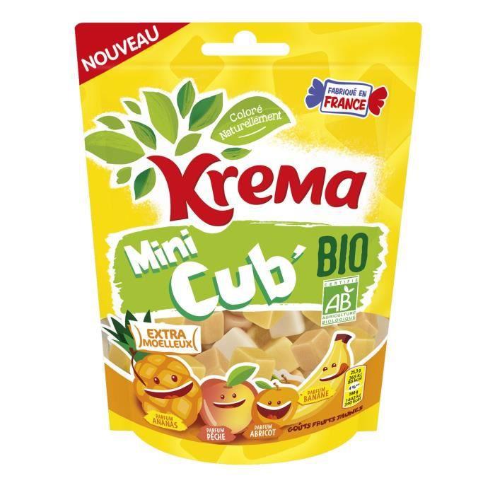 KREMA Bonbons Mini Cub Bio Fruits Jaunes - 130 g