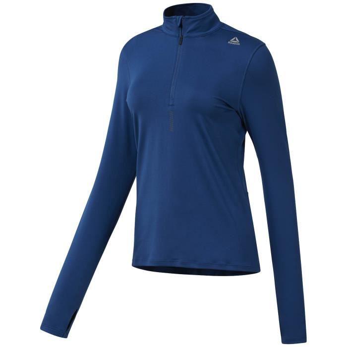 Sweatshirt 1/4 zip femme Reebok Running