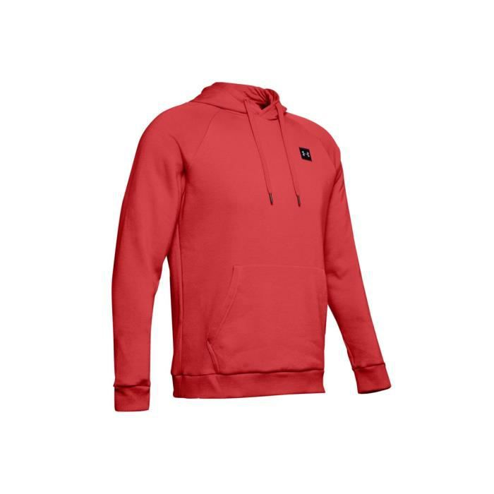 Under Armour Rival Fleece Po Hoodie 1320736-646 sweat-shirt pour homme Rouge