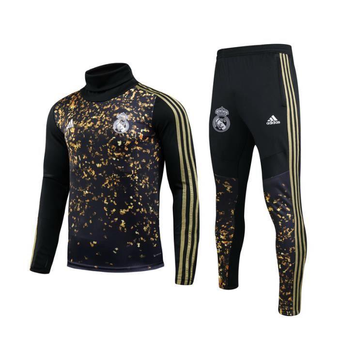 Survêtements Foot Homme Real Madrid - Maillot Foot Homme 20-21 Survêtements Foot Maillot de Foot - Haut et Pantalon