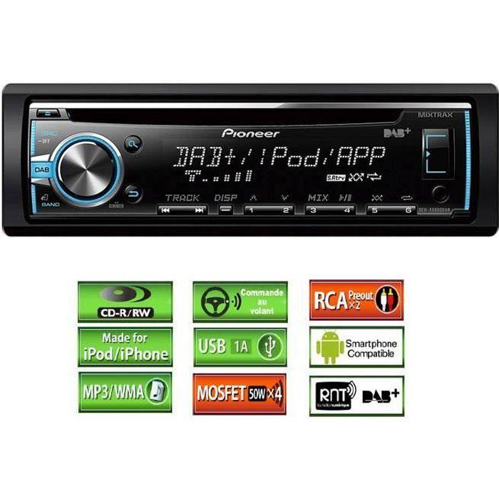 PIONEER DEH-X6800DAB Autoradio iPhone / iPod Mixtrax USB