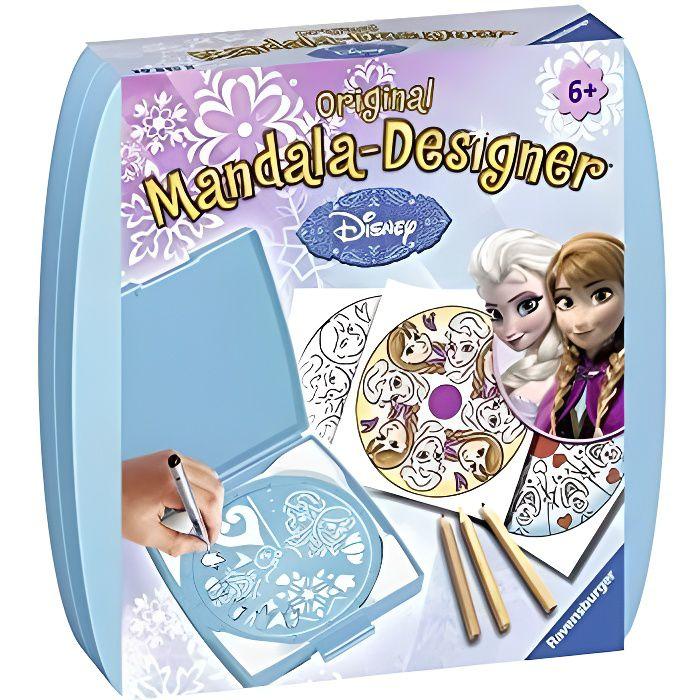 – mandala – mini – disney la reine des neiges – loisir créatif – dessin – enfant dès 6 ans – 29835