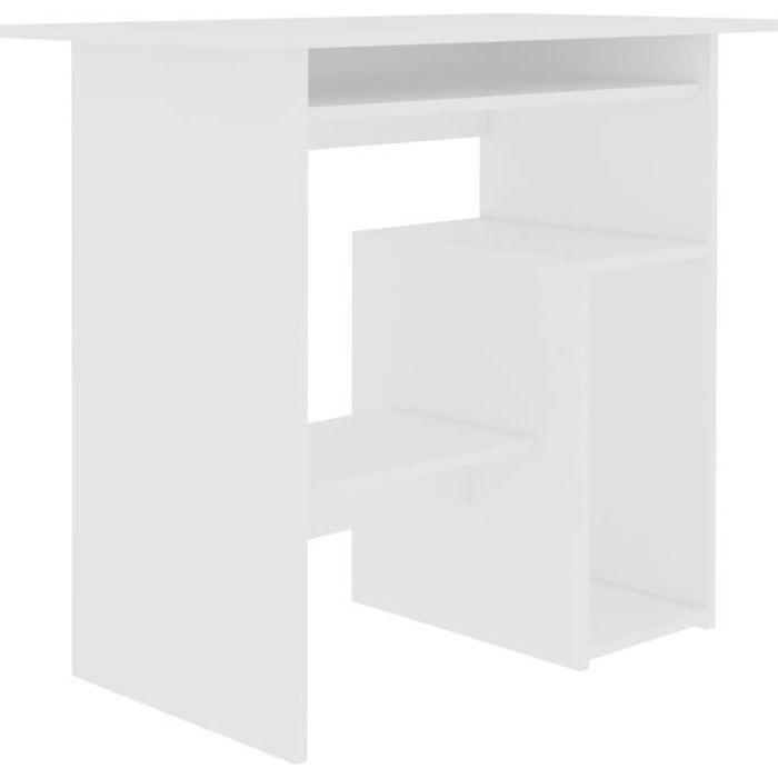 Bureau Blanc 80 x 45 x 74 cm Aggloméré