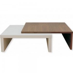 Table basse design ambiance zen couleur blanc achat vente table basse tab - Table basse contemporaine design ...