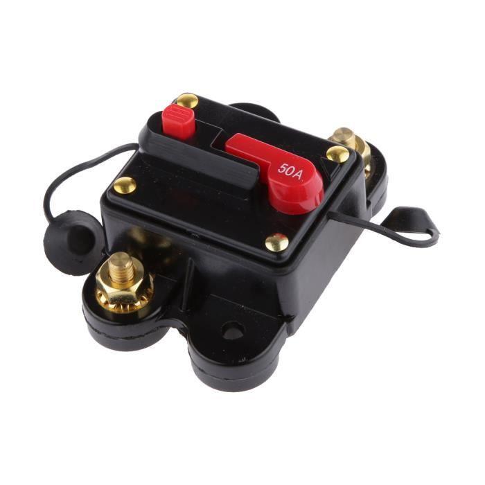 80-300A 12-24V DC Voiture Bateau Audio Stéréo Amplificateur Disjoncteur Fusible