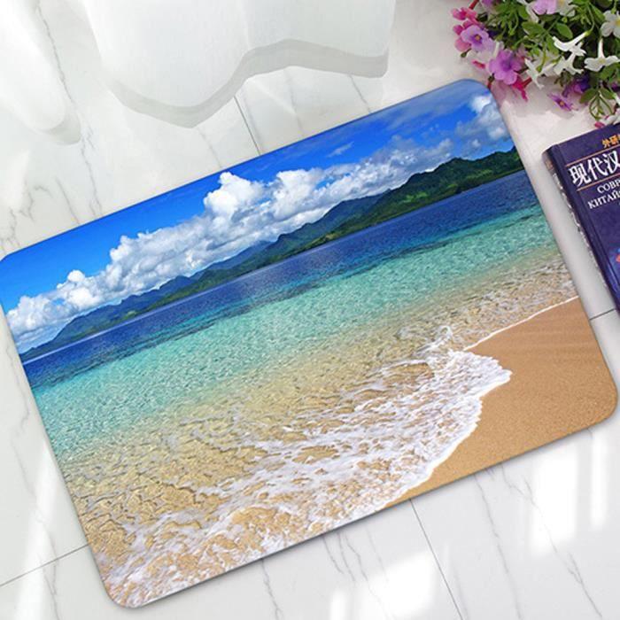 OBJET DÉCORATIF 3D océan tapis caoutchouc Zone molle décoration ch