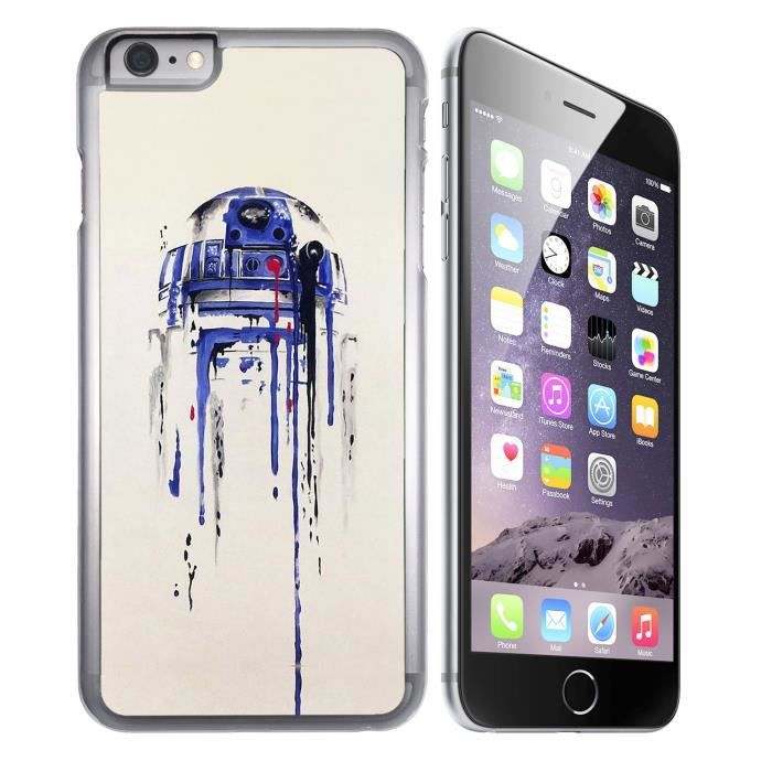 coque iphone 6 6s star wars r2d2 paint