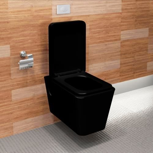 wc suspendu noir complet. Black Bedroom Furniture Sets. Home Design Ideas