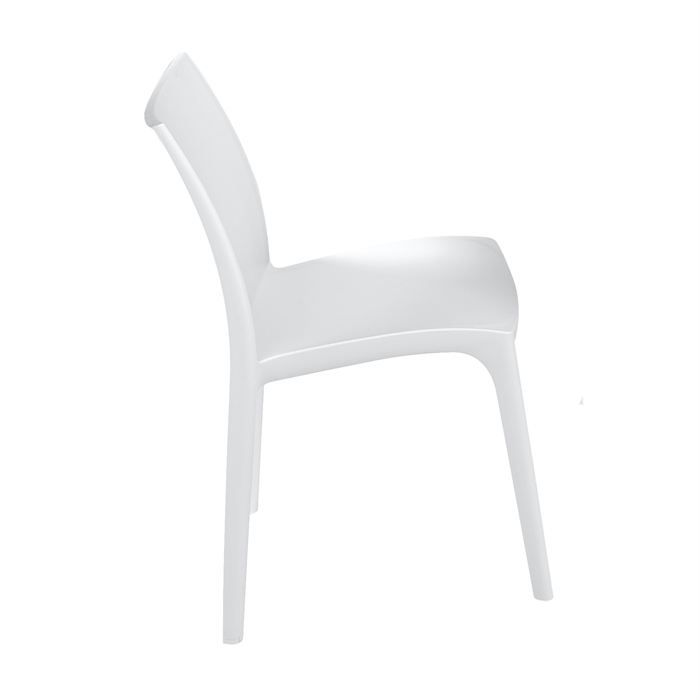 Chaise zip blanche achat vente chaise fauteuil jardin chaise zip bl - Chaise resine blanche ...