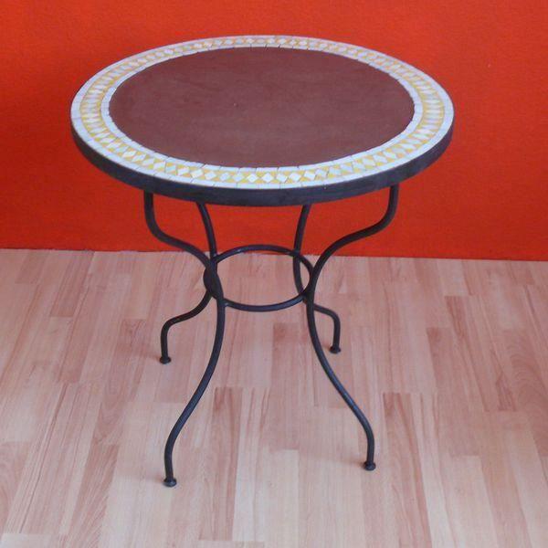 Maroc table de jardin en mosaïque tadelakt Stein Schmied fer ...