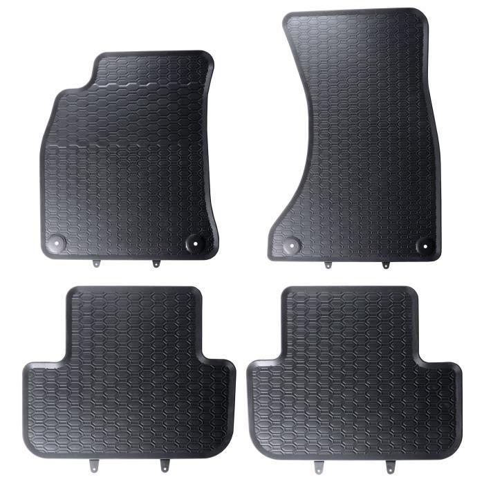 Carpendo Tapis de Sol Voiture Auto Velour Antiderapant Noir avec Systeme de Fixation