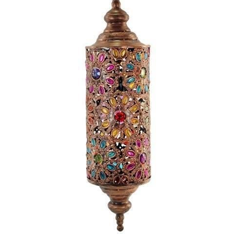Lustre en suspension indienne couleurs 70x18 cm achat for Lustre en suspension