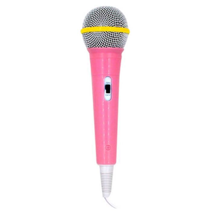 enfants microphone avec fil micro karaoke chant kid funny gift music toy rose achat vente. Black Bedroom Furniture Sets. Home Design Ideas