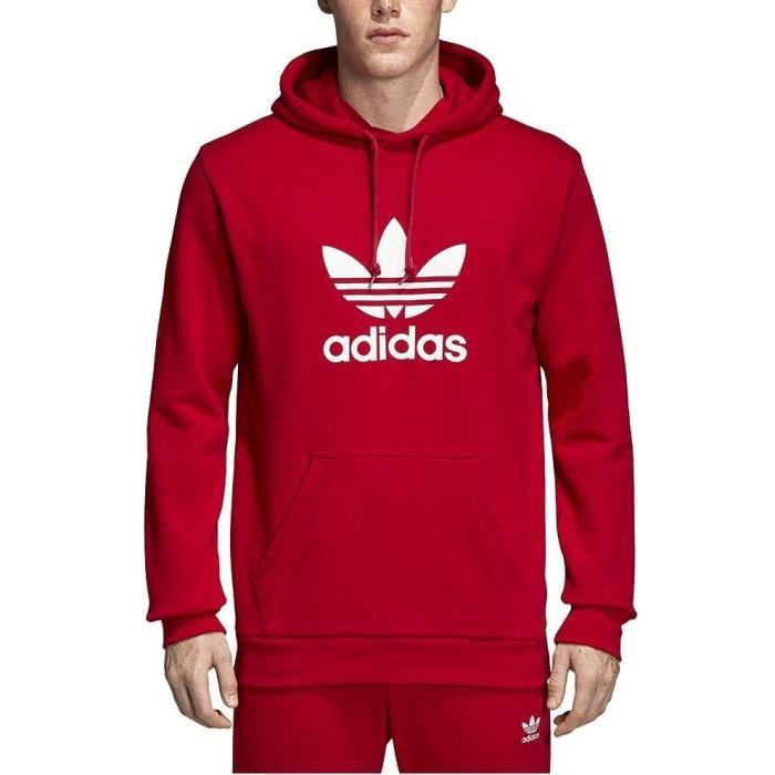 size 40 abc7b 3f369 Sweat adidas rouge