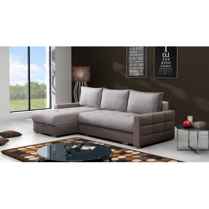 canap lit d 39 angle cubio achat vente canap sofa divan cdiscount. Black Bedroom Furniture Sets. Home Design Ideas
