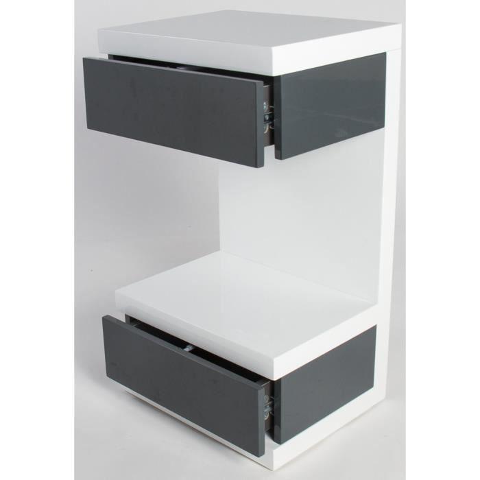 Gris BELAcoloris Table de Blanc chevet haut Achat VpMGqSUz