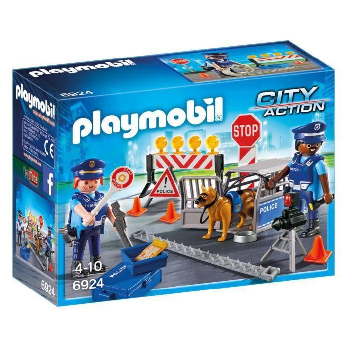 UNIVERS MINIATURE Figurine Miniature PLAYMOBIL 6924 Police d'action