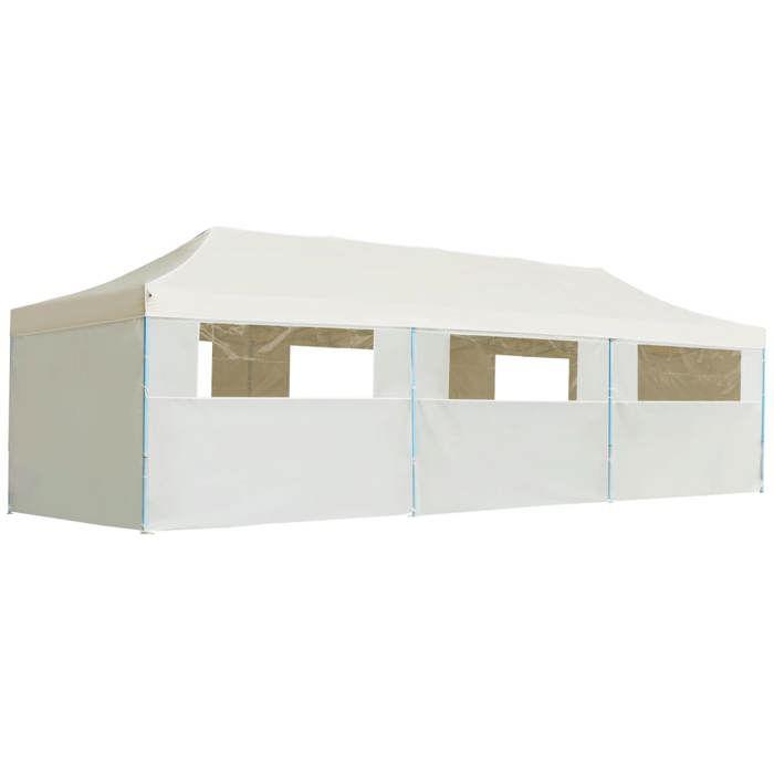 TENTE DE CAMPING vidaXL Tente de réception pliable avec 8 parois 3x