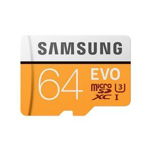 CARTE MÉMOIRE Samsung Carte Micro SD Adapt SD Evo 64Go