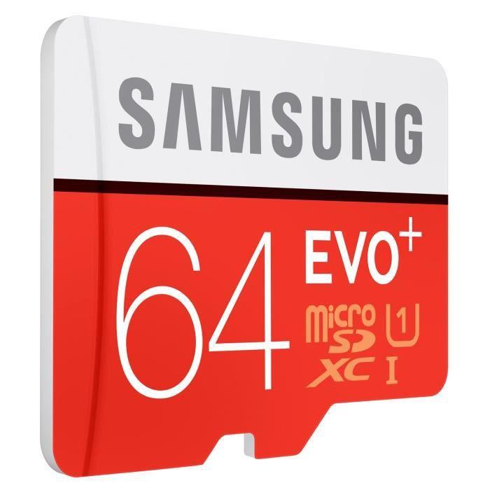 Samsung Evo Plus Carte Memoire Micro Sdxc 64 Go Achat Carte Memoire Pas Cher Avis Et Meilleur Prix Cdiscount