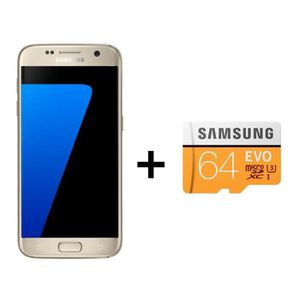 SMARTPHONE Samsung Galaxy S7 Or + Carte Micro SD 64Go