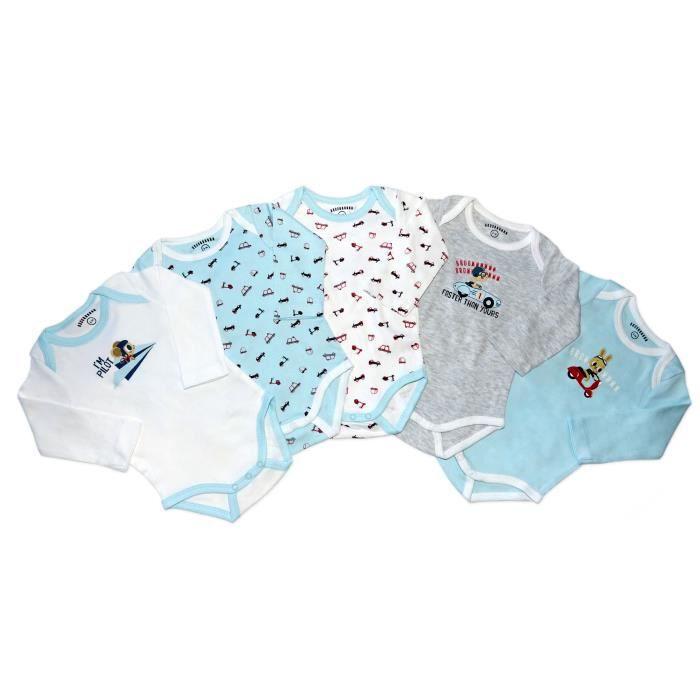 BODY SAHINLER Lot de 5 bodies bébé manches longues garç