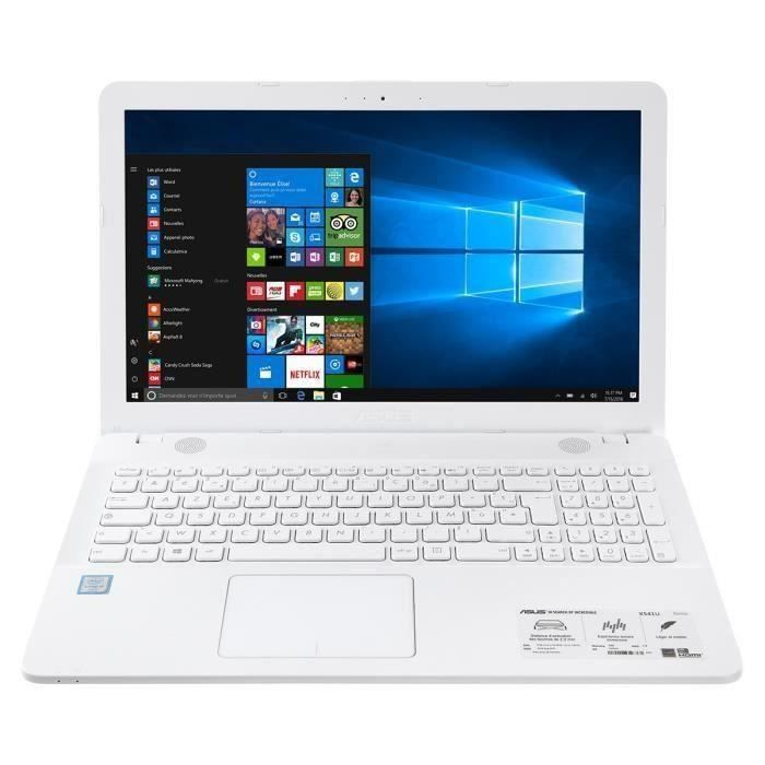 asus pc portable x541ua xx264t blanc 15 6 4go de ram windows 10 intel core i5 intel hd. Black Bedroom Furniture Sets. Home Design Ideas