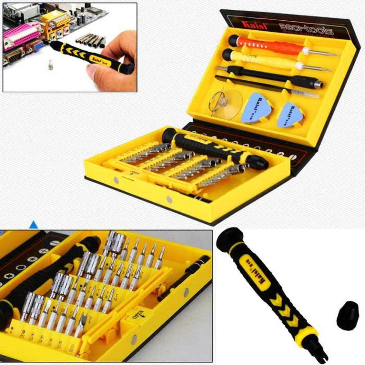 Kit Boîte de Tournevis Précision Reparation d/'outils pour Ordinateurs