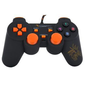 JOYSTICK Dragon War Manette Dragon Shock Filaire Orange PC