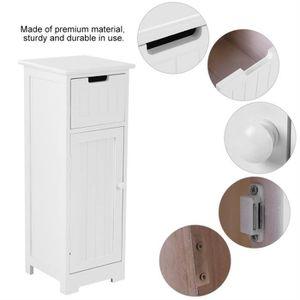 COLONNE - ARMOIRE SDB Armoire de salle de bain Paulownia Blanc-GXU