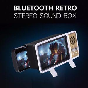 ENCEINTE NOMADE Retro TV Mobile Phone Support sans fil Bluetooth M