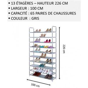 MEUBLE ÉTAGÈRE Meuble Chaussures,No47, Modulable 2 14 Étagères (1