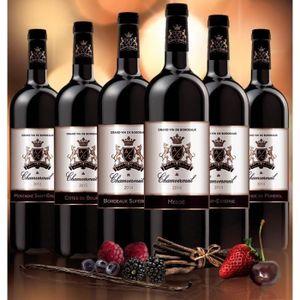 VIN ROUGE Carton Composé Bordeaux Signature - 6 bouteilles v