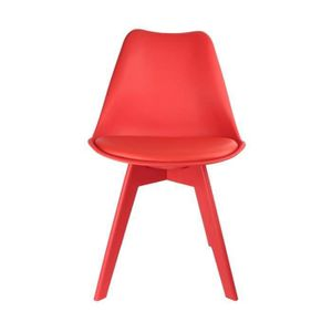 CHAISE Chaise Full Color Rouge - Lot de 2