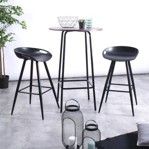 TABOURET DE BAR Lot de 2 Tabourets de Bar Contemporain,Siège en Pl