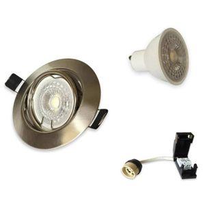 SPOTS - LIGNE DE SPOTS Lot de 15 Spots LED 5W Encastrable et orientable c