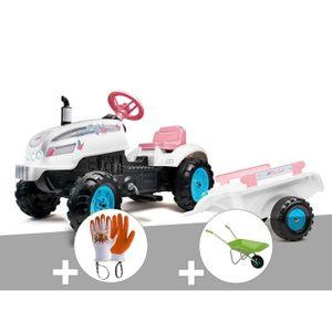 TRACTEUR - CHANTIER Tracteur à pédales Butterfly Farmer avec capot ouv