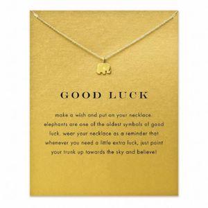 SAUTOIR ET COLLIER Bonne chance Elephant collier pendentif plaqué or