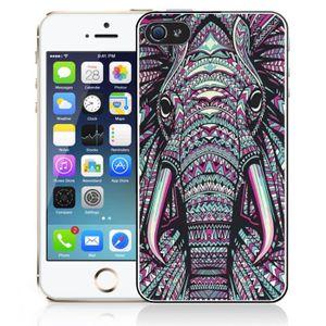 coque iphone 5c elephant azteque multicolore